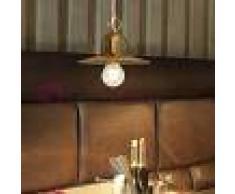 Gibas Osteria Mini Lampada A Sospensione D19 Rustica Country In Ottone Ossidato