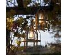 Febo Light Titty Out Lampadario Sospensione A Gabbia D.45 Lampada Rustica Da Esterno In Ottone Anticato