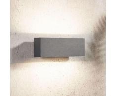Applique da esterni LED Oliver grigio scuro, 18 cm