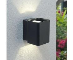 Applique Nikolas, doppia luce, a LED, per esterni