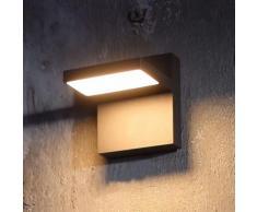 Applique da esterni LED Silvan, grigio scuro