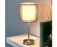 Affascinante lampada da comodino Nica grigia