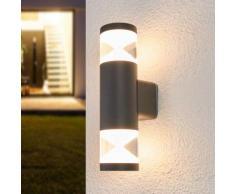 Tamiel - applique LED da esterni in grigio scuro