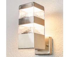 Applique LED da esterni Sinja di linea geometrica