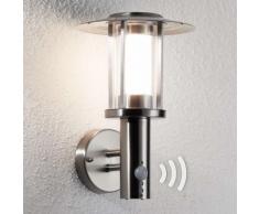 Applique da esterni LED Gregory inox sensore