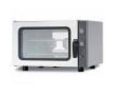 Gastrodomus Forno elettrico a convezione per gastronomia, umidificatore,porta bandiera,comandi meccanici, trifase, 4 teglie GN 1/1 530x325mm