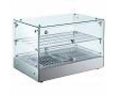 Gastrodomus Vetrina riscaldata in vetro e inox - Temp. +30°C e +90°C - 50 Litri