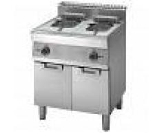 Gastrodomus Friggitrice elettrica su armadio chiuso - 2 vasche - capacità 10 LT + 10 LT