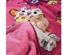 Paco Home Coperta Per Bambini Gufo Rosa Fucsia (60X110)