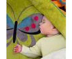 Paco Home Coperta Coperte Per Bambini Farfalle Verde (60X110)