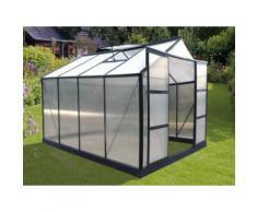 Serra da giardino in policarbonato da 7,5 m² GREENEA II - Antracite