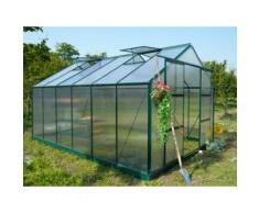 Serra da giardino in policarbonato de 13 m² KALIDA con perimetro - verde