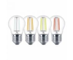 Lampadina LED Color Filament Miniglobe 4W Equivalente a 30W E27