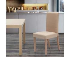 Sedia in legno imbottita stile henriksdal per cucina sala da pranzo COMFORT | Shabby Beige