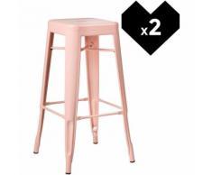 SKLUM Pack 2 Sgabelli Alti LIX Rosa Quarzo Sala da Pranzo Cucina Bar Stile Industrial