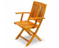 2 Poltrone sedia in legno poltrona pieghevole da giardino per esterno EG54041