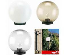 Testa palo lampione da giardino sfera globo illuminazione esterno e27 sovil colore: chiara