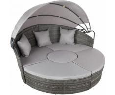 divano prendisole in alluminio e rattan - rattan, rattan sintetico - grigio