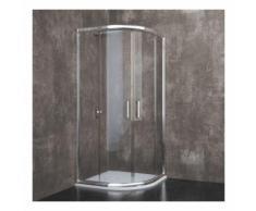 Lubiana - Box Doccia Semicircolare, Cristallo Temperato, Alluminio Anodizzato Maniglie in Acciaio