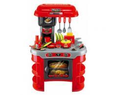 Cucina Giocattolo Per Bambini 72x46x61 Cm Con Utensili Miller Rossa
