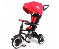 Triciclo Per Bambini Passeggino Pieghevole Qplay Rito 3 In 1 Happy Kids Rosso