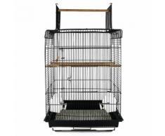 Voliera Per Uccelli In Metallo Nero 41.5x29.5x56.5 Cm Riotti