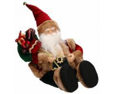 Pupazzo Babbo Natale H38 Cm Con Carillon E Movimento Adami Rosso