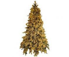 Albero Di Natale Artificiale Innevato 240 Cm 2850 Punte Glitterato Oro Con Led Gold Shine