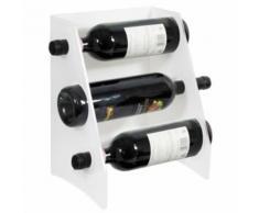 Espositore Portabottiglie Da Banco In Plexiglass Trasparente 34 Posti 24x32x20cm Safemi