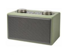 Altoparlante Speaker 40w Wireless Con Radio In Ecopelle Kooper Twist Verde