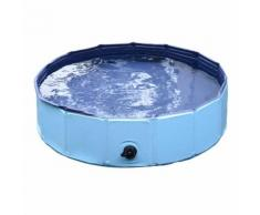 Piscina Per Animali Domestici In Plastica Bordo Stabile 120x30 Cm Blu Riotti