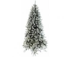 Albero Di Natale Artificiale Innevato 180 Cm 940 Rami Vizzoni Basicsnow Verde