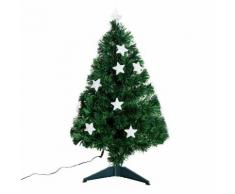 Albero Di Natale Artificiale 90 Cm 90 Rami In Pvc E Fibra Ottica Con 12 Led Benzoni