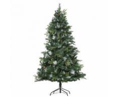Albero Di Natale Artificiale Innevato 180 Cm 1077 Rami Con Pigne Hmc Pino Verde