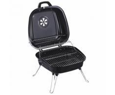 Barbecue A Carbone Carbonella Portatile Da Tavolo 45x42x33,5 Cm Miozzi Tiny