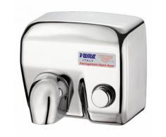 Asciugamani Elettrico Antivandalo Con Pulsante 2400w Vama Ariel Lp Acciao Inox Lucido