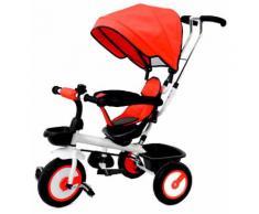 Passeggino Triciclo Seggiolino Reversibile Kids Joy Jolly Rosso