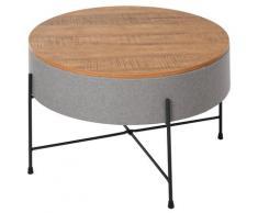 Tavolino Rotonto Da Caffè Ø60x40 Cm Con Vano Contenitore Benzoni