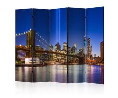 Paravento 5 Pannelli - Blue New York Ii 225x172cm Erroi