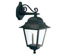 Lampada Applique Grande In Basso Colore Nero Da Esterno Linea Quadrata Sovil