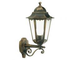 Lampada Applique Grande In Alto Colore Nero E Oro Per Esterno Linea Merlet Sovil