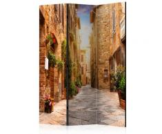 Paravento 3 Pannelli - Colourful Street In Tuscany 135x172cm Erroi