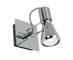 Faretto Spot Base Quadrata Metallo Cromo Luce Orientabile E14 Intec Spot-cadillac-1