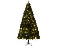 Albero Di Natale Artificiale 210 Cm 960 Rami 300 Led Hmc Pino Verde