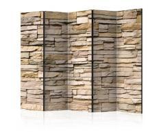 Paravento 5 Pannelli - Decorative Stone Ii 225x172cm Erroi