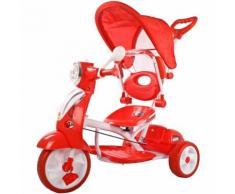 Moto Triciclo A Spinta Seggiolino Reversibile Per Bambini Kid Go Rosso