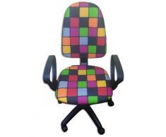 Sedia Poltrona Operativa Da Ufficio In Tessuto Renier Rubik