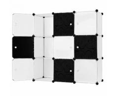 Armadio Guardaroba Modulare 9 Cubi Rizzetti Cube Bianco E Nero