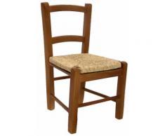 Sedia Per Bambini In Legno Seduta Impagliata Adami Noce