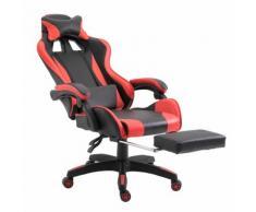 Sedia Da Gaming Reclinabile Nero-rosso 66x60x127-134 Cm Fadami